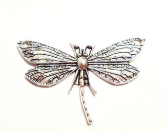 x 1 large 49 mm x 31 mm Dragonfly charm pendant connector