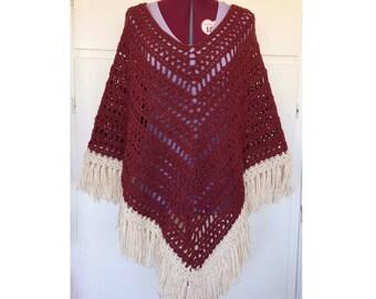 Poncho Womens, Poncho, Boho Clothing, Boho Poncho, Crochet Poncho, Boho Crochet Poncho, Women Ponchos, Knit Poncho, Gift For Her, Gypsysoul