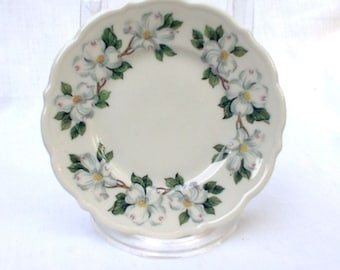 "SIX Syracuse China Dogwood 5 1/2"" Plates Restaurant Ware Scalloped"