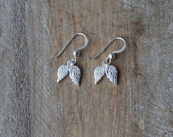 Wings sterling silver earrings