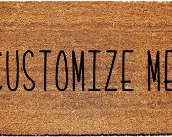 Customize your own handmade doormat | Personalized Doormat |