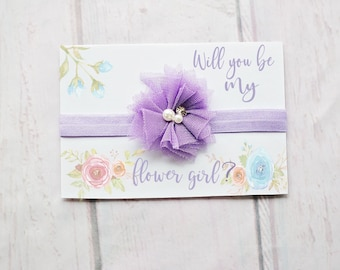 Flower Girl Proposal Gift - Will you Help me Tie The Knot - Flower Girl Gift - Flower Girl Proposal - Flower Girl Headband Favors