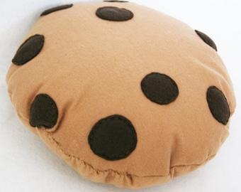 Choc Chip Cookie Cushion, Biscuit Cushion, Soft Toy, Felt Cushion, Food Pillow, Pretend Biscuit, Home Decor, Emoji Pillow, Kids Room Decor