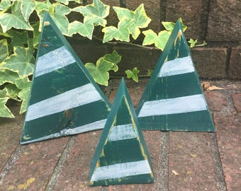 Green Wooden Winter Trees, Wooden Christmas Trees, Wooden Green Trees, Farmhouse Christmas Tree, Rustic Wood Trees, Simple Wood Trees