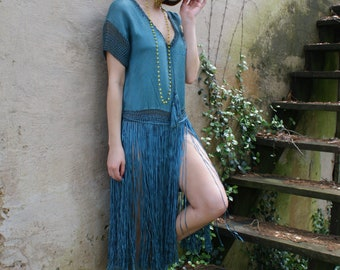 Payment 2 Layaway do not buy price 395.00 paid 197.50 1920's Flapper Fringe Dress Ringling Brothers Circus Elephants RARE as is