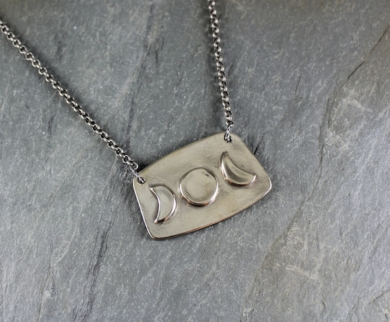 Moon Phase necklace ~ Artisan Handcrafted