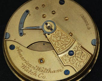 Vintage Antique Waltham Watch Pocket Watch Movement Steampunk SM 86