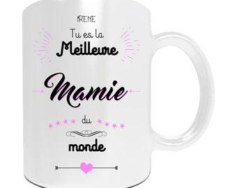 """Christmas gift Grandma - Mug personalize """"You're the best Grandma in the world"""" - personalized gift mother Grandma"""