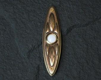 Handcrafted Bronze Doorbell Cover