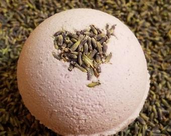 "Lavender Explosion Bath Fizzy - 4oz, 2.5"" - Bath Bomb Ornament - Heatherhouse Spa - Lavender/Rosemary Bath Bomb - Moisturizing Bath Fizzy"