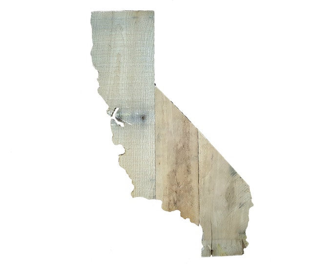 Wooden California State Sign, Reclaimed Wood, Handmade