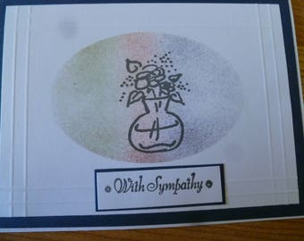 Sympathy card in soft colors