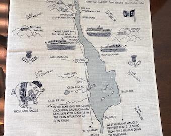 Irish linen Tea Towel Loch Lomond by Ulster