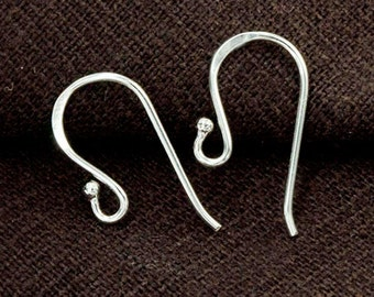 5 pairs of 925 Sterling Silver Ear Wires 9x19mm. :th2497