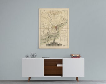 Philadelphia, philadelphia gift, vintage philadelphia, philadelphia print, vintage map, vintage decor, philadelphia poster, philadelphia art