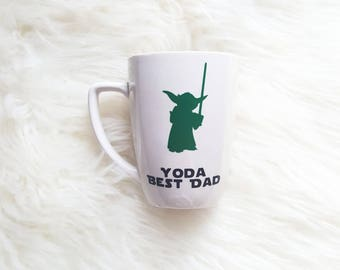 Yoda best dad mug/yoda best dad/yoda best/star wars mug/star wars cups/yoda mug/star wars fathers day/star wars gifts for him/best dad mug