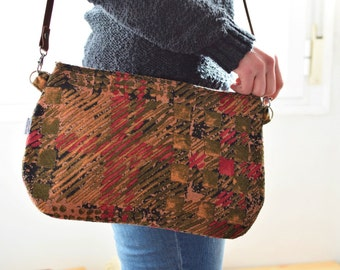 Abstract bag,Abstract clutch,red clutch,green bag,colors purse,fabric bag,crossbody bag,handbag,printed bag,spring bag,big print,leather bag