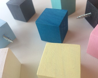 Modern Colorful Wood Knob,Chose Color,Wall Hooks,Wooden Knobs,Color Knob,Decorative Knobs