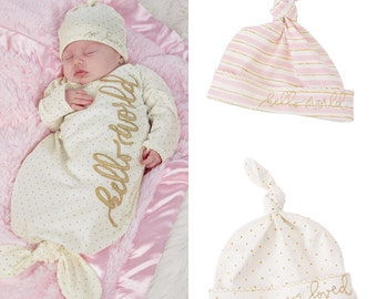 Newborn Caps by MudPie® - 2 design options