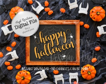 Happy Halloween Sign, Halloween Sign, Halloween Printables, Party Decor, Instant Download, Digital File