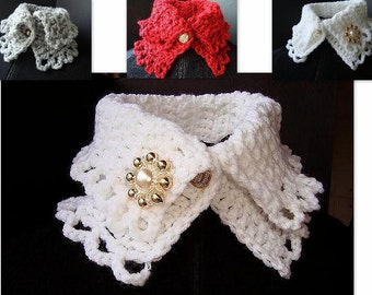 CROCHET PATTERN scarf cowl num. 78 Crochet collar neckwarmer. Make it in 45 minutes. PDF