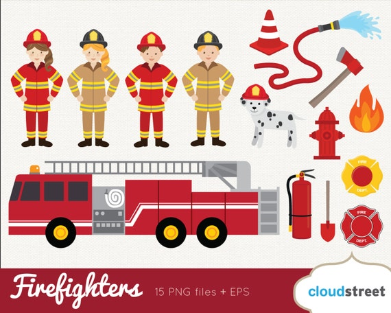 buy 2 get 1 free firefighter clipart firefighter clip art rh etsy com clipart firefighters equipment Firefighter Clip Art Black and White