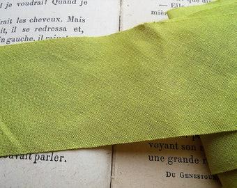 1 meter fabric green coupon 4.5 cm