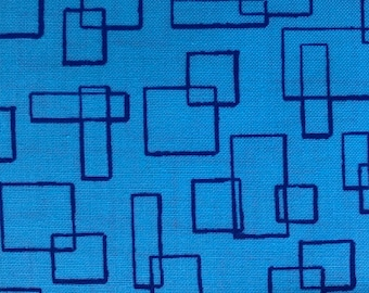 Modern Marks Turquoise Squares by Christa Watson for Contempo by Benartex