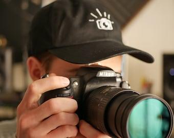 Photography Classic Dad Hat - camera hat, photography hat, photographer hat, embroidered photographer, film maker, film hat, dslr hat