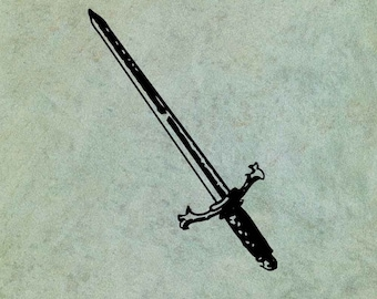 Sword - Antique Style Clear Stamp