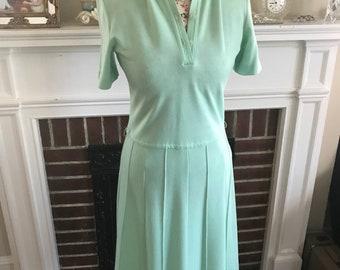 Vintage 1960s Wool Shirt Dress