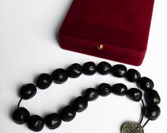 Komboloi 20 Knots aromatic nutmeg with Holy anointing oil - Prayer Rope 20 Knots aromatic nutmeg with Holy anointing oil - Prayer Rope Beads