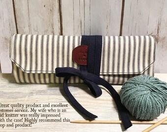 Personalized Knitting needle case, Needle case, Crochet hook case, Knitting Needle Organizer, Knitting Crochet Needle Case, custom wrap case