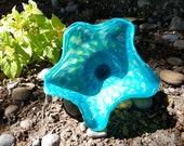 Light Blue Glass Flower, ...