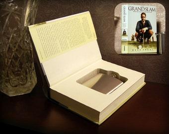 Hollow Book Safe & Flask - The Grand Slam - Secret Book Safe