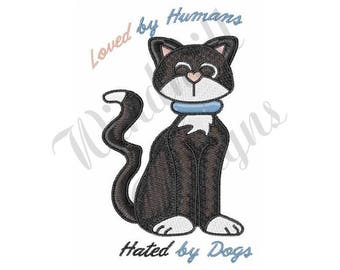 Cat Loved By Humans - Machine Embroidery Design