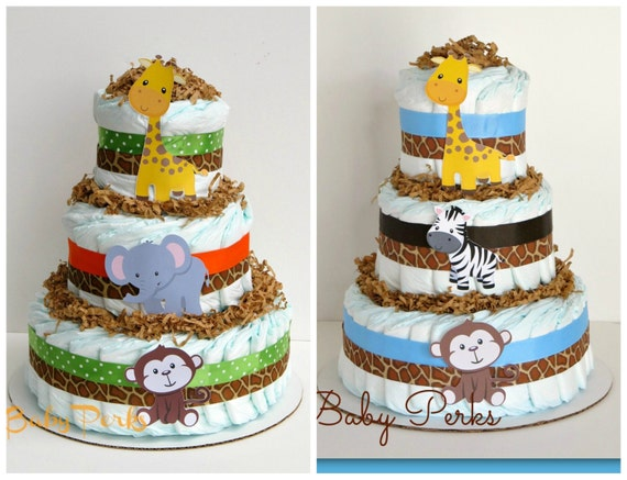 Baby Shower Jungle Sheet Cakes