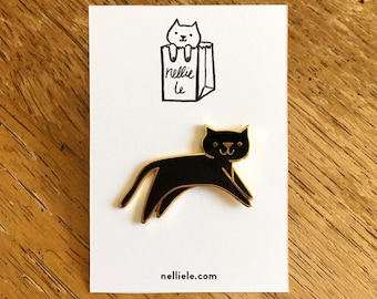 SECONDS SALE Black Cat Pin