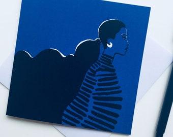Le Modèle La Nuit - Greetings Card