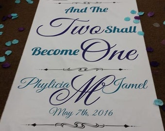 """Wedding Aisle Floor Runner Custom made to order to say anything 30"""" Wide Beautiful"""