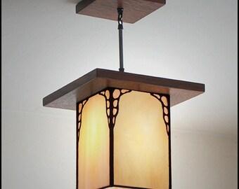 Mission Style Hanging Lantern