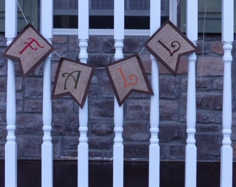Fall Banner, Burlap Banner, Fall Decoration, Mantle Decoration, Fun, Unique, Gift, Mantle,Doorway, Photo Shoot