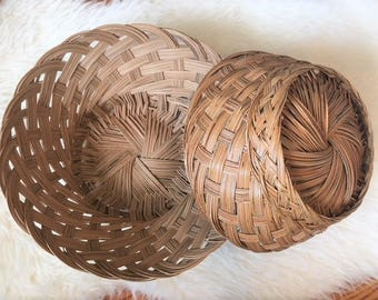 Pair of Woven Baskets