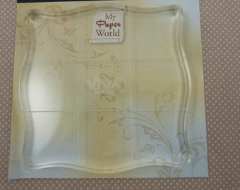 Acrylic block for clear stamps