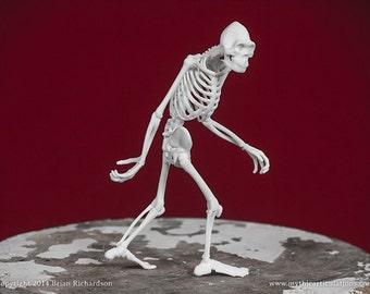 Sasquatch Bigfoot Skeleton 3D Print Taxidermy Sculpture