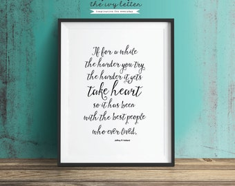 Take Heart...Printable  Inspirational Quote Digital Art Wall Decor Typography 4x6, 5x7 and 8x10 all Included! INSTANT DOWNLOAD