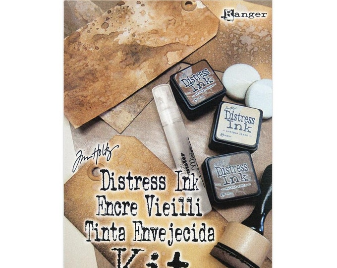Ranger Tim Holtz Distress Ink Kit (Mini Mister, Tags, Mini Inks, Blending Tool)
