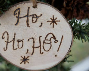 Wooden Ornaments, Ho, Ho, Ho!