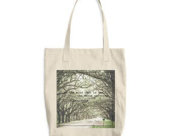 Book tote bag, Lao Tzu, Buddhist quote, cotton tote bag, bag for books, everyday tote, purse, nature quote