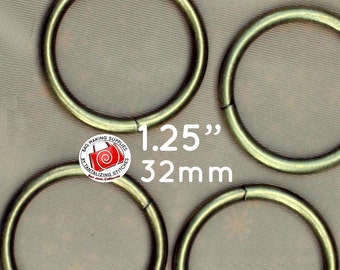 124 Pieces O Rings 1.25 inch / 32mm (available in antique brass and nickel finish)